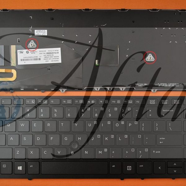 HP Elitebook 840 G1 850 G1 kompiuterio klaviatūra