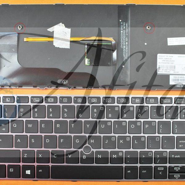 HP elitebook 725 G3 820 G3 kompiuterio klaviatūra