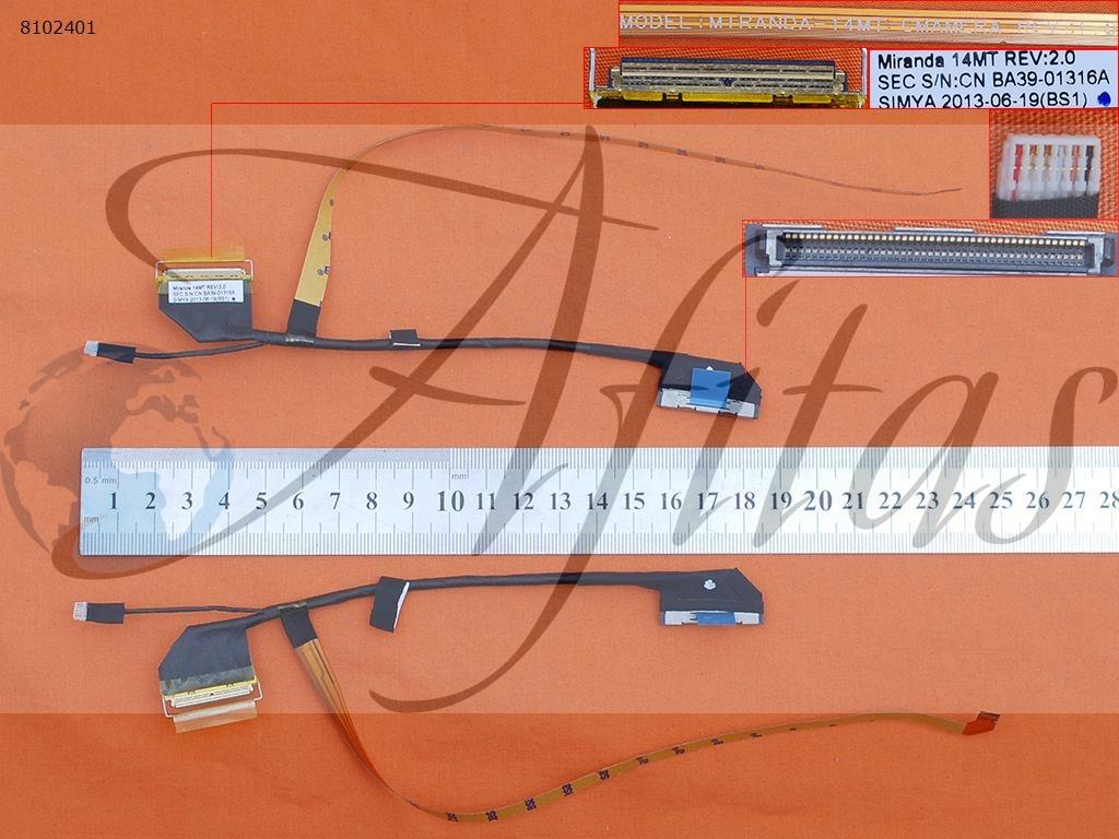 Ekrano kabelis Samsung NP530U4E NP540U4E