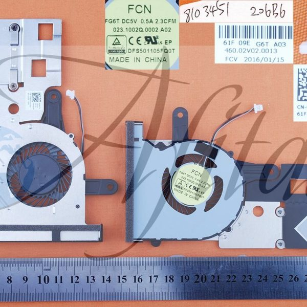 Dell Inspiron 14 3451 15 3552 kompiuterio aušintuvas